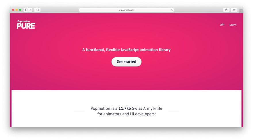 JavaScript libraries: Popmotion