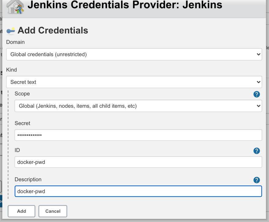 Jenkins credentials binding