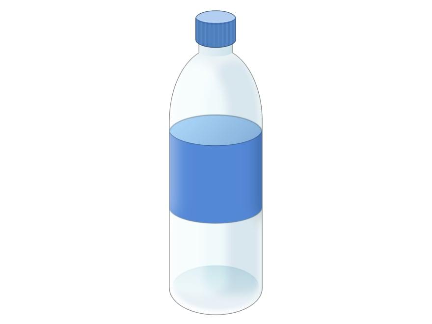 Cartoon of an empty bottle of water