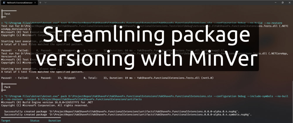 Cover image for Streamlining package versioning with MinVer