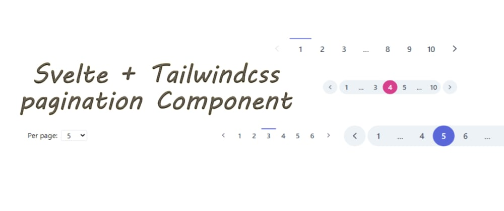 Cover image for Responsive Svelte + Tailwind Pagination component