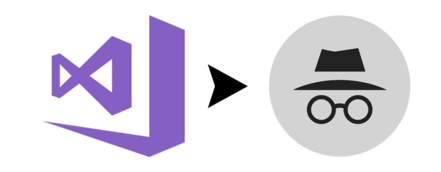 Debug Visual Studio in Incognito