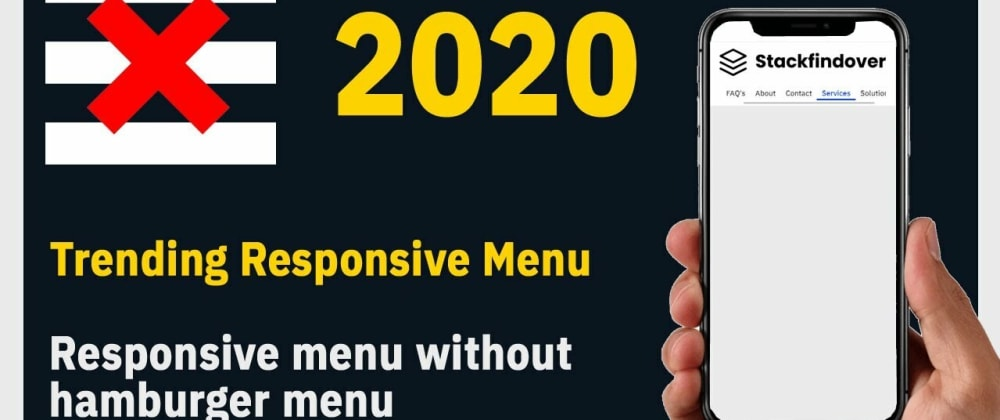 Cover image for Unique Responsive Menu Design
