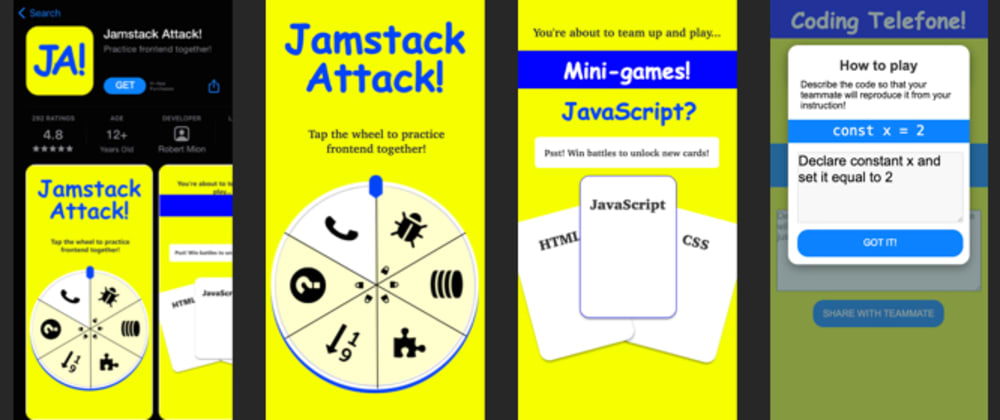 Cover image for Practice Frontend together: play 'Jamstack Attack!' on your phone!