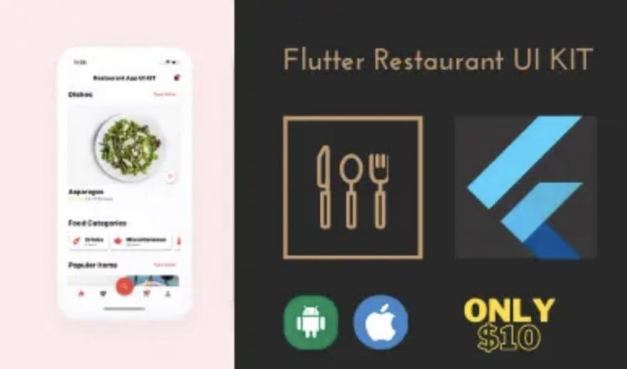 Restaurant App UI KIT Flutter template app