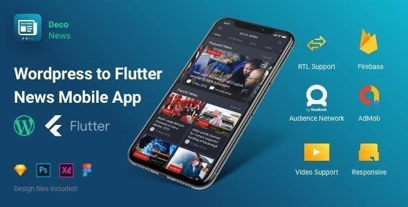 Deco News – Flutter Mobile App for<br> WordPress