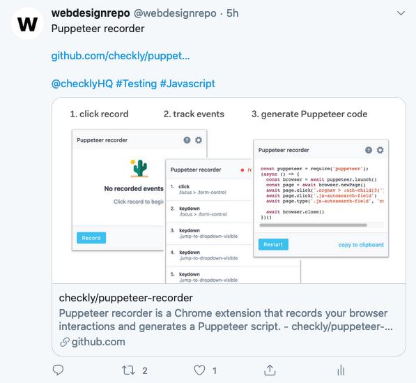 A tweet example