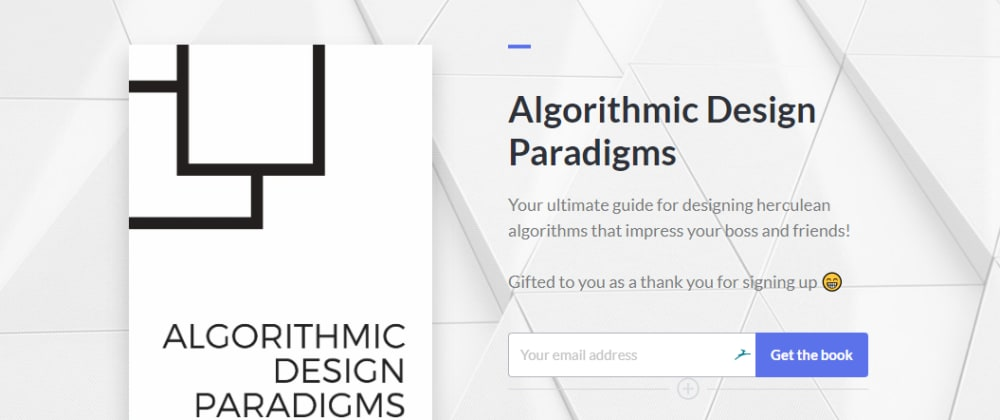 Cover image for A Free Ebook on Greedy Algorithms, Divide & Conquer, and Dynamic Programming