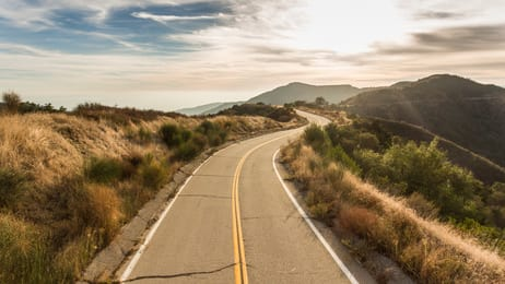 Road to Modern Javascript symbolized by a curvy road