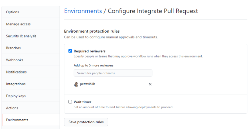 Integrate Pull Request Environment