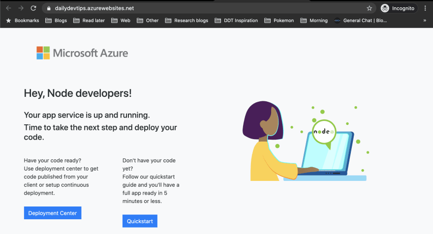 Azure App Service default page