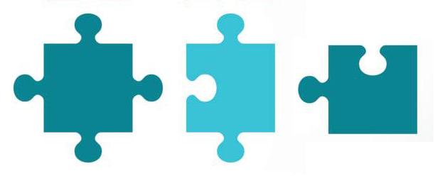 Three puzzle pieces