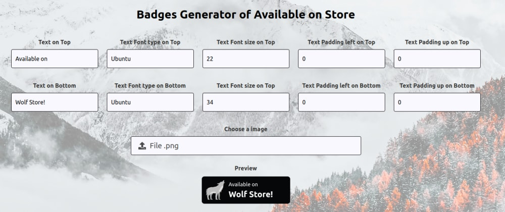 """Cover image for Badge Generator of """"Available on Store"""""""