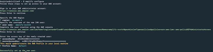 New User Setup Success Notification