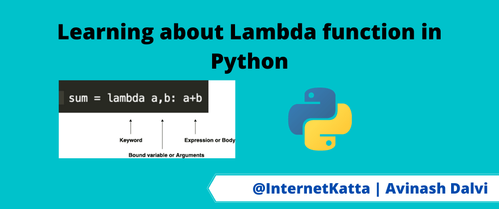 Cover image for Learning about Lambda function in Python