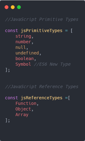 Types in JS