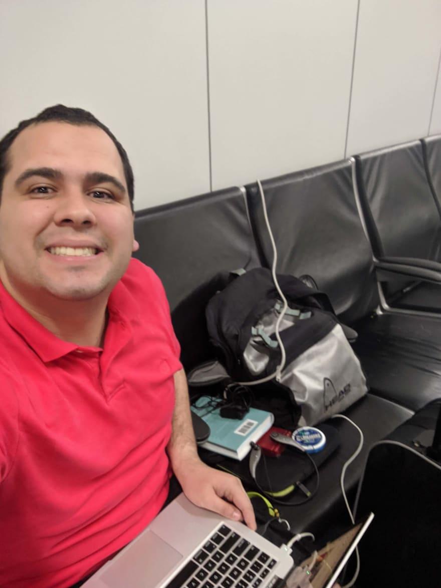 Jordan at the Dallas Airport