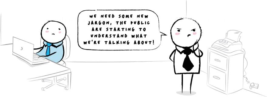 Comic strip about tech jargon