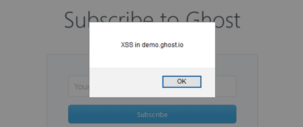 Cover image for XSS in Ghost