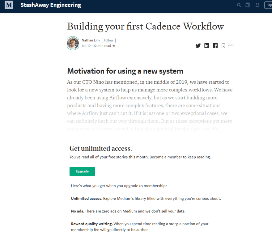 Content publishing platforms - Medium