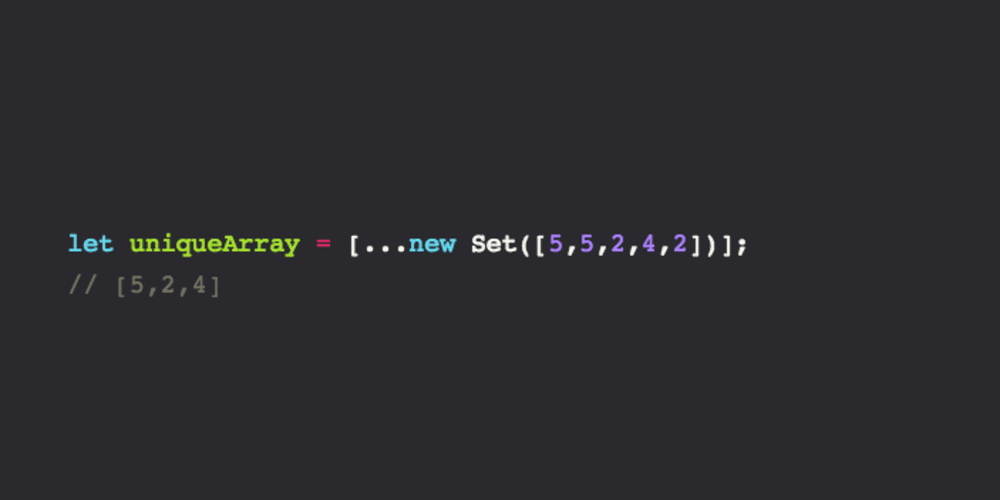 How to create an array of unique values in JavaScript using