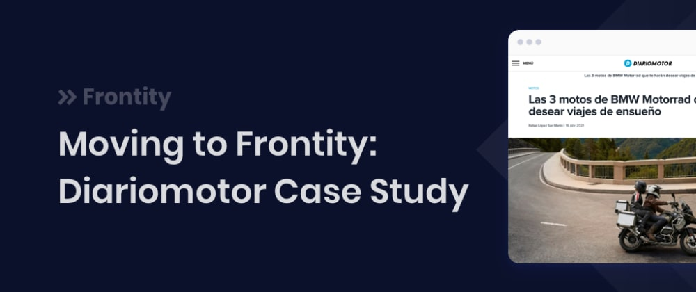 Cover image for Moving to Frontity: Diariomotor Case Study