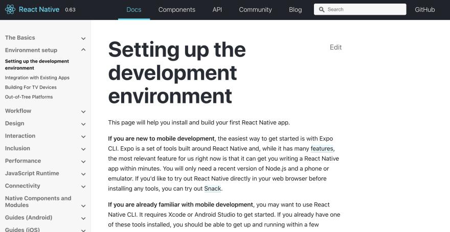 Setting up the development environment