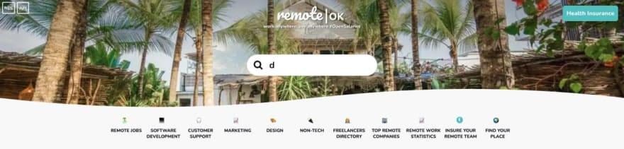 Remote OK website