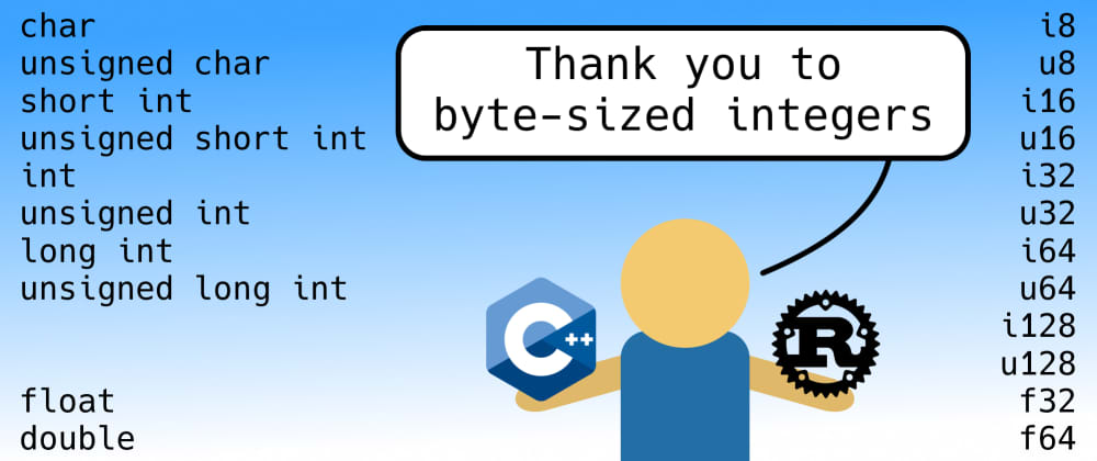 Cover image for Thank you to byte-sized integers