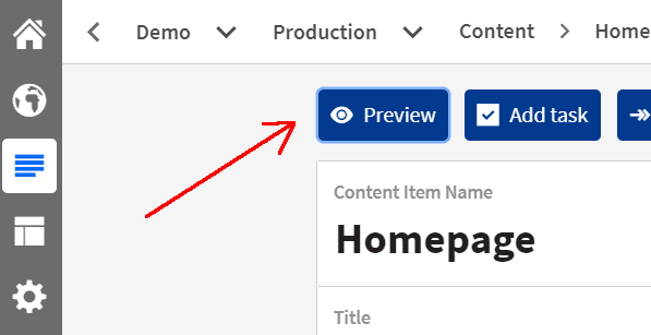 Preview URL Button