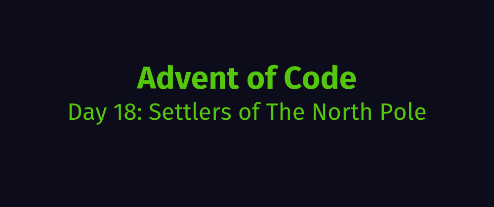Cover image for AoC Day 18: Settlers of The North Pole