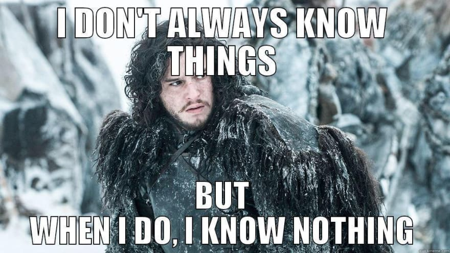 Jon Snow knows nothing meme