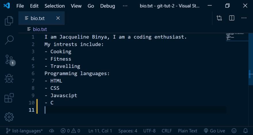 screenshot of code block