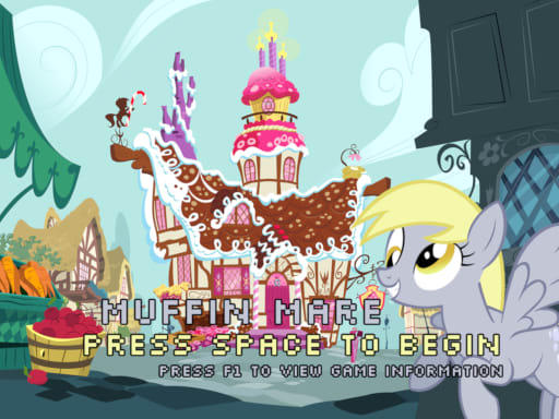 Title screen for my Muffin Mare game