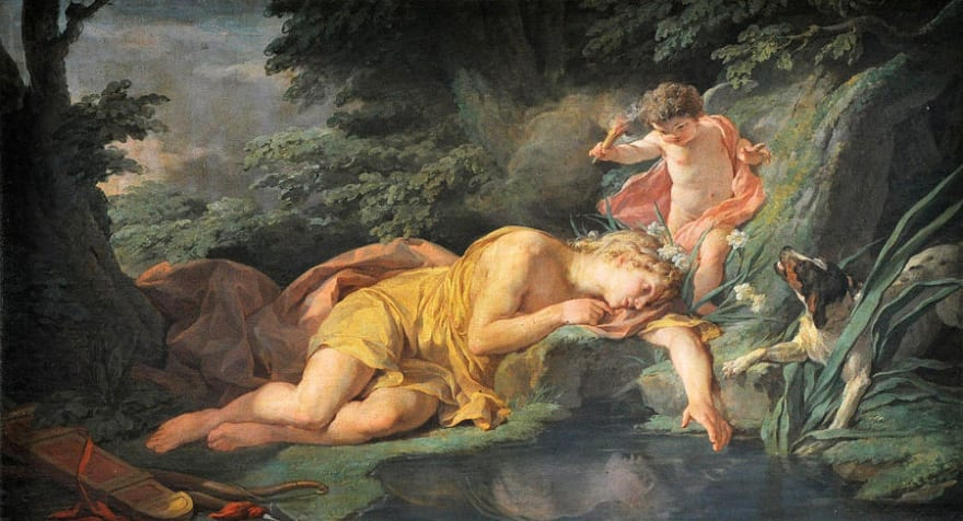 Narcissus Getting Lost in Himself