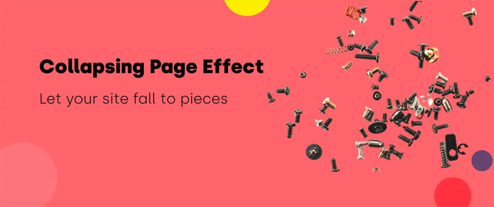 Cover image for Collapsing Page Effect