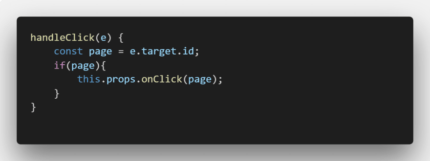 Handle Click Function