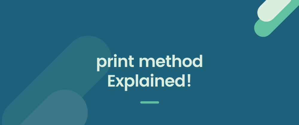 Cover image for The print method in Python