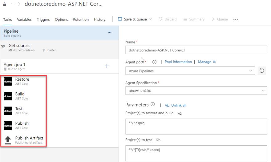.net core tasks