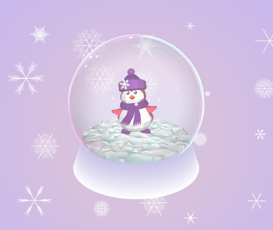 Penguin in a globe
