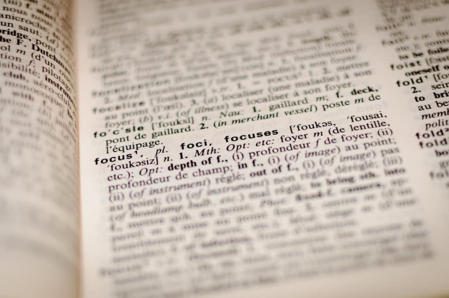 Dictionary image