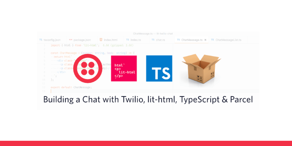 Building a chat with Twilio, lit-html, Parcel and TypeScript - DEV