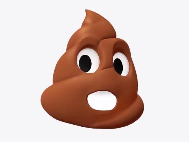 Singing poop emoji