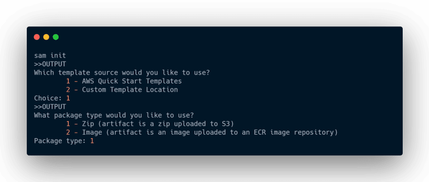 sam init command