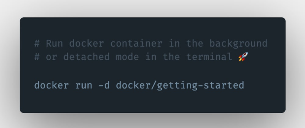 Cover image for How to run a docker container in the background or detached mode in the terminal?
