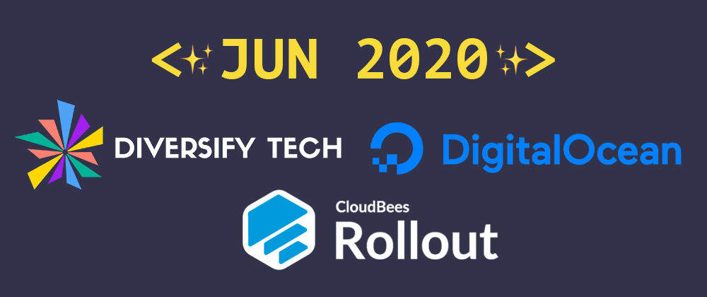 Cover image for Introducing our June 2020 sponsors