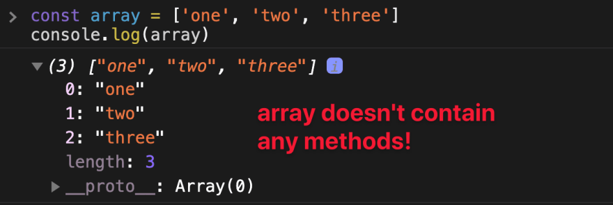 Array doesn't contain method.