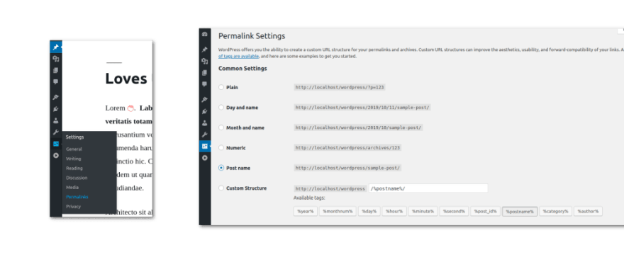 Edit Permalinks on Wordpress