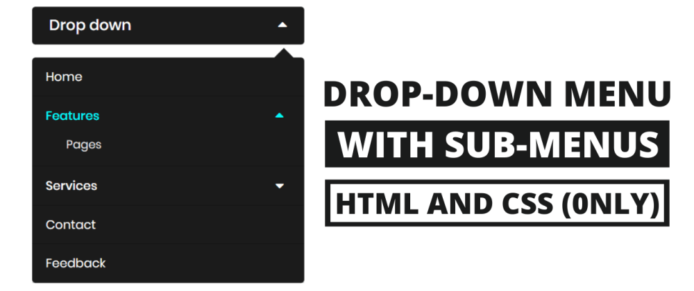 Cover image for Minimal Drop-down Menu Bar with Submenu using HTML & CSS