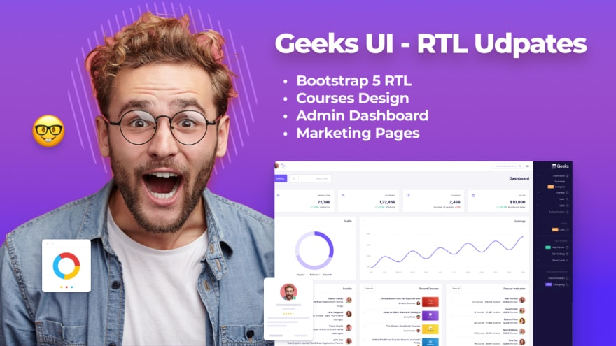 Geeks UI - Bootstrap 5 RTL Template